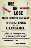 Use or Lose, your branch is threatened with closure