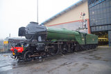 Flying Scotsman locomotive at the National Railway Museum in preparation for its inaugural run, 21st February 2016.