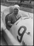 Luigi Fagioli in a Mercedes-Benz racing car, Germany, 1930s.