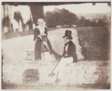 Kit Talbot (1803-1890) and Lady Charlotte Talbot (1809-1846) at Lacock Abbey, c. 1845
