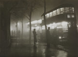 London night fog scene.