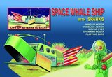 Space Whale Ship with Sparks 1950