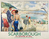 Poster, London & North Eastern Railway, Scarborough by Edmund Oakdale, 1936.