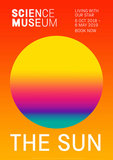 The Sun exhibition poster for Science Museum London, 2018