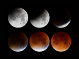 Phases of lunar eclipse, 28th September 2015.