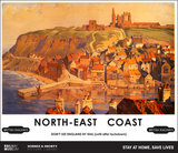 New Lockdown Travel Poster - North-East Coast