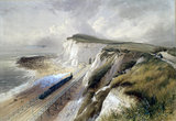 Train at Shakespeare Cliff, Dover, 1850.