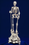 Silver-plated skeleton.