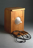 Music system used with MRI (magnetic resonance imaging) scanner, c 1990.
