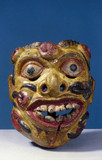 Painted face mask, Sri Lankan, 1771-1860.