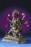 Buddhist statue depicting Mahakala treading on Ganesh, Tibetan.