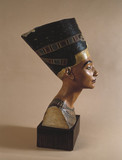 Head of Nefertiti, Egyptian queen, c 1383-1365 BC.
