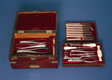 Set of dental instruments, English, c 1845.