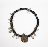 Apache medicine man's amuletic necklace, American.
