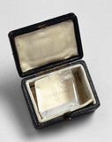 Sample of Iceland spar stored in a leather case, early 19th century.