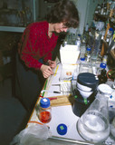 Haematology laboratory, 1981.