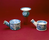 Three spittoons, 18th or 19th century.