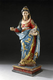 Statue of St Lucy of Syracuse, 19th century.