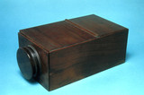 Early box-type camera obscura, early 19th century.