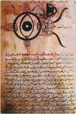 The anatomy of the eye, 12th century copy of a 9th century manuscript.