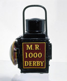 Portable lamp used by the Midland Railway, 1902.