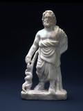 Marble statuette of Asclepius, Greek, 400-200 BC.