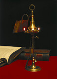 Dutch 3-nozzle Oil Lamp, 1800-1820.