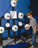 Pulleys and Belts interactive, Science Museum, London, 1996.