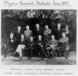 Cavendish Laboratory research students, 1897.