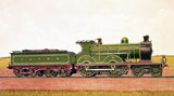 Glasgow and South Western Railway expres pasenger locomotive, 1904.