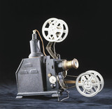 Home film projector, early 20th century.