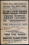 Advertisement for a moving picture show,
