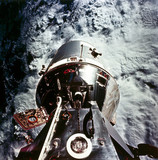 Apollo 9 Command and Service Module in Earth orbit, 1969.