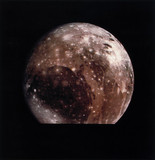 Ganymede, one of the moons of Jupiter, 1979.