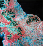 Landsat image of northern England, 1982.