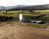 British satellite receiving station, Oakhanger, 1980.