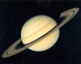 The planet Saturn, photographed by Voyager 1, 1980.