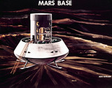 Artist impresion of a Mars Base, 1970.