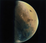 Mars photographed by the Viking 1 Orbiter, 1976.
