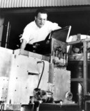 Donald Glaser, American physicist, with his apparatus, c 1953.