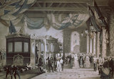 Queen Victoria and Prince Albert arriving at Gosport Station, Hampshire, 1846.