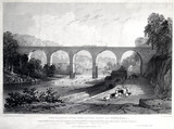 The Viaduct over the River Eden at Wetheral, Cumbria, 1835.