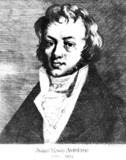 Andre-Marie Ampere, French physicist and mathematician, c 1810.