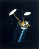 Intelsat 6 communication satellite, 1989.