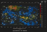 Altimetry map of the surface Venus, April 1983.