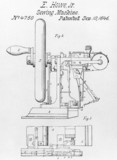Howe's sewing machine, c 1846.
