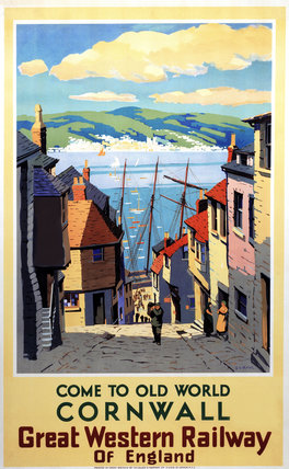 'Come to Old World Cornwall', GWR poster, 1931.