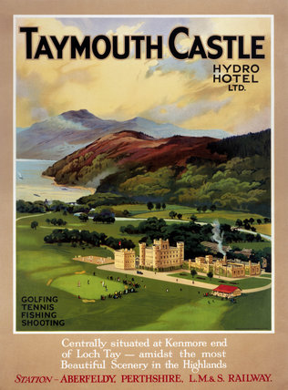 'Taymouth Castle', LMS poster, 1923-1947.