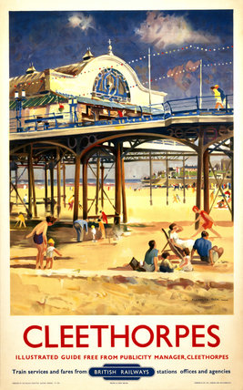 View of Cleethorpes Pier, including beach s