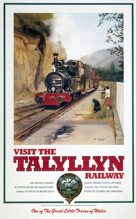 'Visit the Talyllyn Railway' TR poster, 19990.